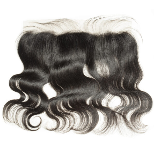 body wavy black  human hair weaves extensions lace frontal closure