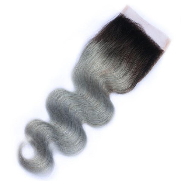 Grey Ombre BW Closure